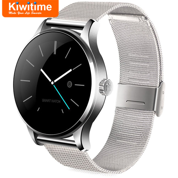 KIWITIME K88H Smart Watch Connected Bluetooth Heart Rate Monitor Smartwatch for Men Women iPhone 8 9 X Plus Lenovo Samsung Phone  MartLion