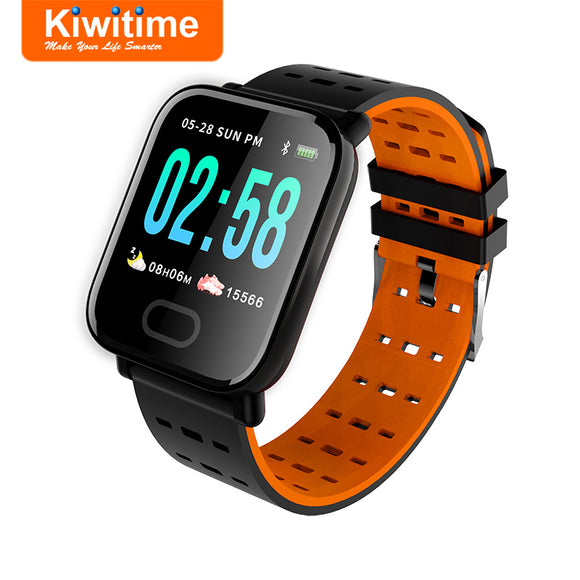 KIWITIME KB16 Bluetooth Smart Watch Connect Heart Rate Blood Pressure Monitor Fitness Bracelet Men Smartwatch for iPhone Android  MartLion.com