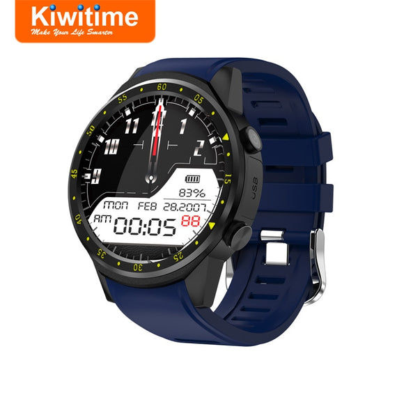 KIWITIME KF01 GPS Smart Watch Connect Compass Heart Rate Monitor Men Sport Bluetooth Smartwatch for iPhone Samsung Android Phone  MartLion.com