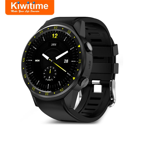KIWITIME KF01 GPS Smart Watch Connected with Compass Camera SIM Card Men Multi-Sports Smartwatch for iPhone Huawei Android Phone  MartLion.com