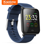 KIWITIME Q9 Smart Watch Waterproof Fitness Bracelet Tracker Band Blood Pressure Heart Rate Monitor Smartwatch for iPhone Android  MartLion