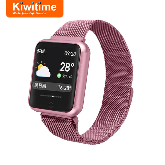KIWITIME Smart Watch P68 Waterproof Heart Rate Blood Pressure Monitor Fitness Bracelet Women Smartwatch for Apple iPhone Android  MartLion