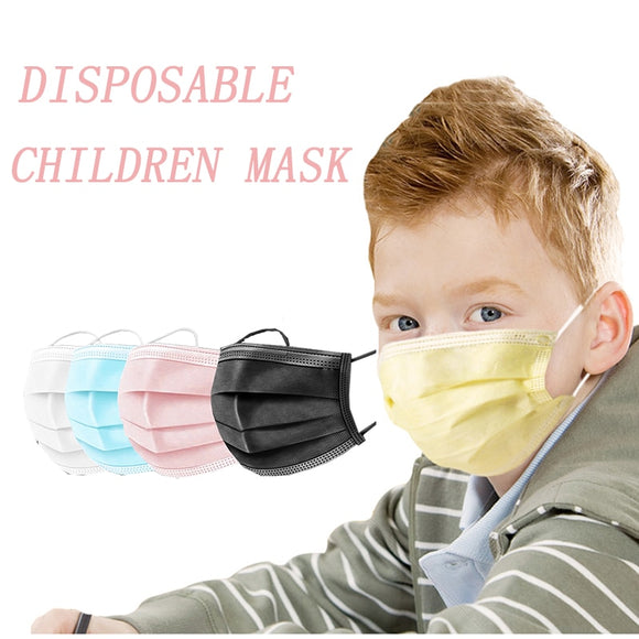 Kids Face Mask 10/50/100/pcs Disposable  For Children Non Woven 3 Layer Dust Breathable Gauze Mask Infant Face Mouth Mask