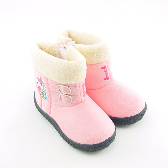 Koovan Baby Shoes 2019 Winter Warm Children Boots Dog Cartoon Cotton Girls Snow Boot Boys Girls Kids Rubber Shoes 23-27  MartLion.com