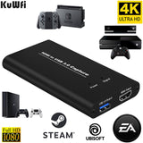 KuWFi USB3.0 HDMI 4K60Hz Video Capture HDMI to USB Video Capture Card Dongle Game Streaming Live Stream Broadcast with MICinput  MartLion