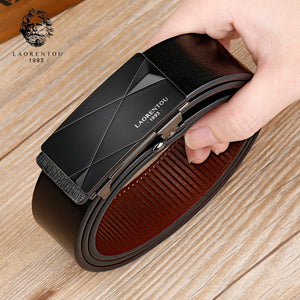 LAORENTOU Brand Men Male Cutable Belt Man's Belts with Buckle Gentleman High Quality Belt  Split Leather Replacement Belt  MartLion