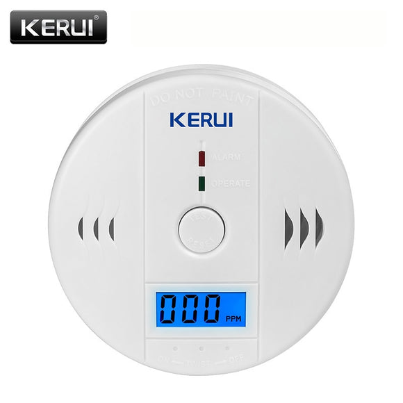LCD Photoelectric Carbon Monoxide Home Security Protection 85dB Warning High Sensitive Independent CO Gas Sensor Detector Alarm  MartLion