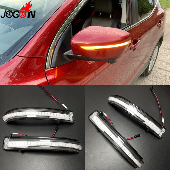 LED Light Dynamic Turn Signal Mirror Blinker Indicator For Nissan X-Trail T32 14-18 Qashqai J11 14-18 Murano Z52 Pathfinder R52  MartLion