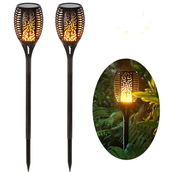LED Solar Flame Flickering Lamp IP65 Waterproof Garden Decoration Landscape Light Lawn Path Lighting Torch Courtyard Spotlight  MartLion.com