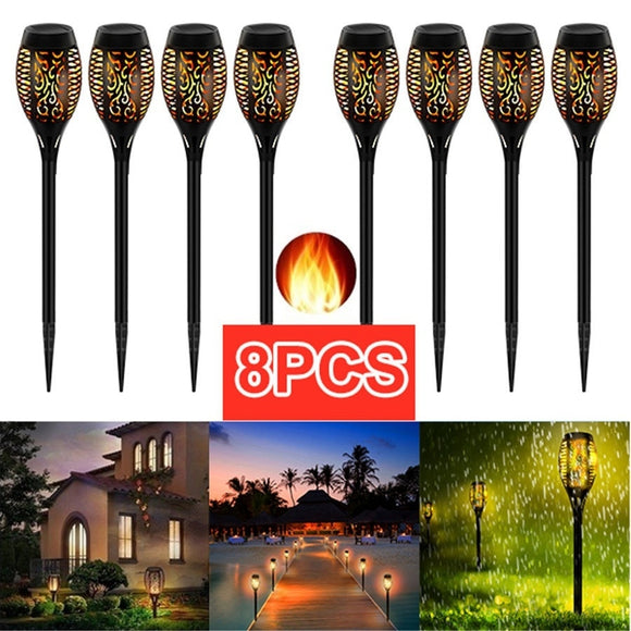LED Solar Flame Light Lamp Flickering Waterproof Garden Decoration Landscape Lawn Lamp Path Lighting Torch Outdoor Spotlight  MartLion