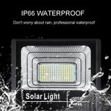 LED Solar Light Flood Light 25W 40W 60W 100W 200W Spotlight IP66 White BSOD Auto Solar Lamp Outdoor for Garden Street Garage  MartLion