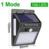 LED Solar Light Outdoor Solar Lamp with PIR Motion Sensor Solar Powered Waterproof Wall Light for Garden Yard Path Decoration  MartLion