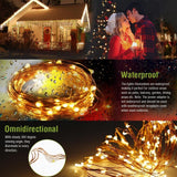 LED Solar String lamp 8mode Fairy Light Christmas Lights 12m 100LED Copper Wire Wedding Party Decor Lamp Garland  MartLion