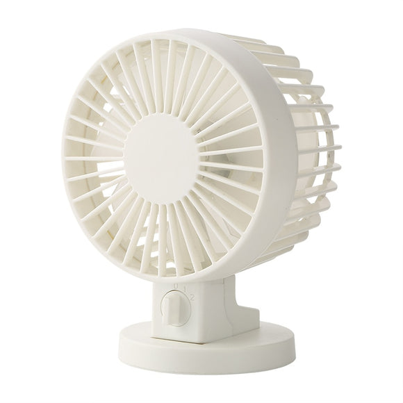 LUCOG Mini USB Desk Fan Office Mini Cooler Cooling Silent Desktop Fan With Double Side Blades Super Mute Silent