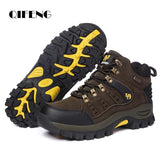 Large Size Outdoor Ankle Boots Men Non Slip Fashion Lace Up Climbing Leather Winter Cowboy Boots Trekking Hiking Footwear Summer  MartLion