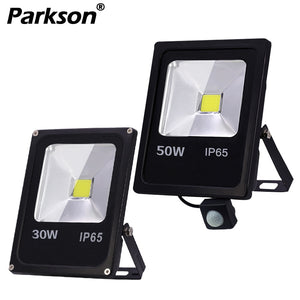 Led Flood Light Outdoor Spotlight Motion Sensor Floodlight 10W 30W 50W Wall Lamp Reflector IP65 Waterproof Garden 220V Lighting  MartLion.com
