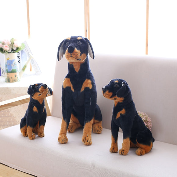 Lifelike Simulation Black Dog Plush Toy Plush Stuffed Animal Dog Cute Puppy Dog Children Gift at Home Decoration Husky Dachshund  MartLion