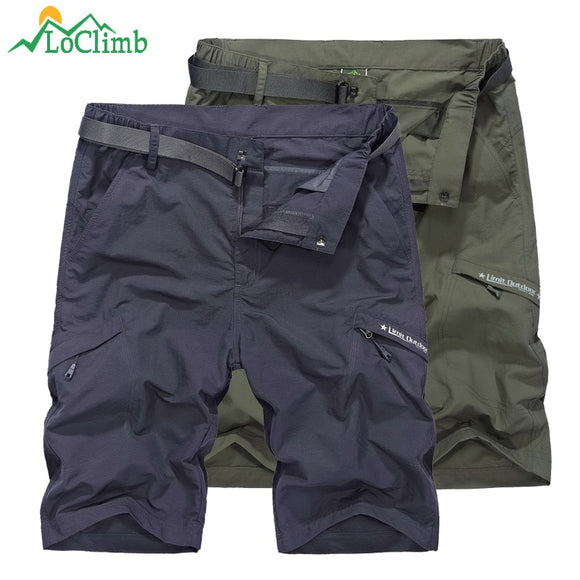 LoClimb Outdoor Hiking Shorts For Men Camping/Climbing/Trekking Khaki Quick Dry Shorts Men's Sports Shorts Fishing AM385  MartLion