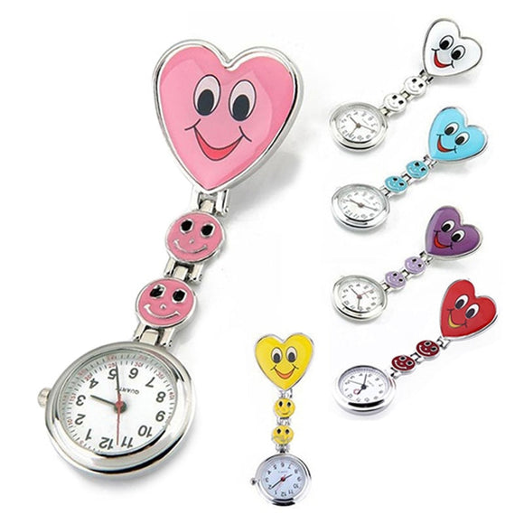 Lovely Heart  Smile Face With Medical Nurses  Fashion Quartz Pocket Fob Watches High Quality  TT@88  MartLion