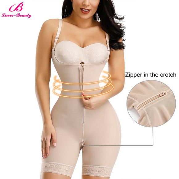 Lover-Beauty Women Waist Trainer Butt Lifter Shapewear Full Body Shaper Underbust Bodysuit Slimming Underwear Seamless  MartLion