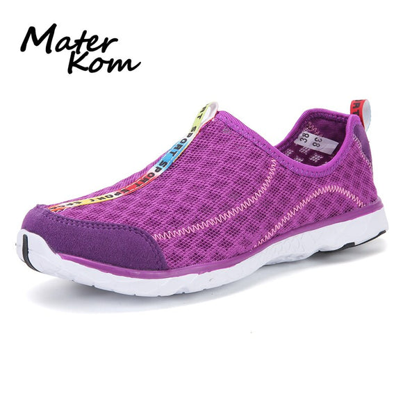 Lover Outdoor Hiking Swimming Water Shoes Women EVA Mesh Beach Aqua Shoes Man Lightweight Breathable Large zapatos de agua