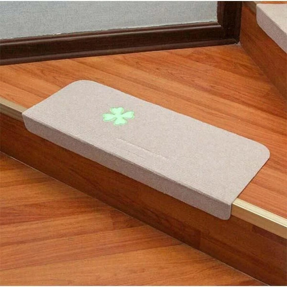 Luminous Embroidery Floor Rug Carpet for Stairway Anti-Slip Stair Mats Self-adhesive Step Mats Foot Pad Entrance Mat  MartLion.com