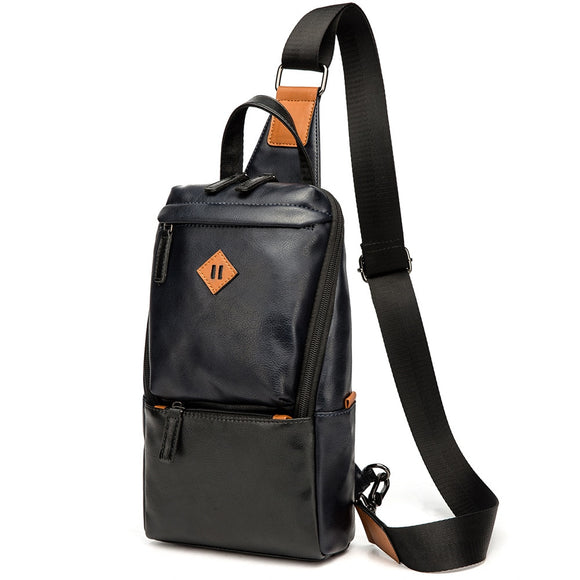 Luxury Brand Crossbody Bag Leather Men Chest Bag Vintage Messenger Shoulder Bag Men's Business Sling Bags Male Casual Chest Pack  MartLion.com