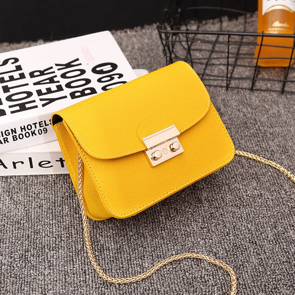 Luxury Fur Brand Candy Mini Leather Bags Handbag Clutch Bag Women 2019 Designer Yellow Small Shoulder Crossbody Bag Travel Purse  MartLion