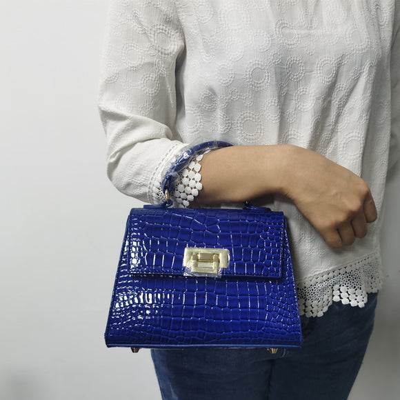 Luxury Lady Crocodile Bag 2021 New Elegant Good Quality Women Handbag with Long Adjustable Shoulder Strap
