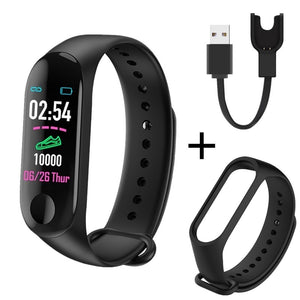 M3 Plus Smart Band Bluetooth Sports Fitness Tracker Smart Bracelet Healthy Sleep Blood Pressure Heart Rate Monitor Smartband  MartLion.com