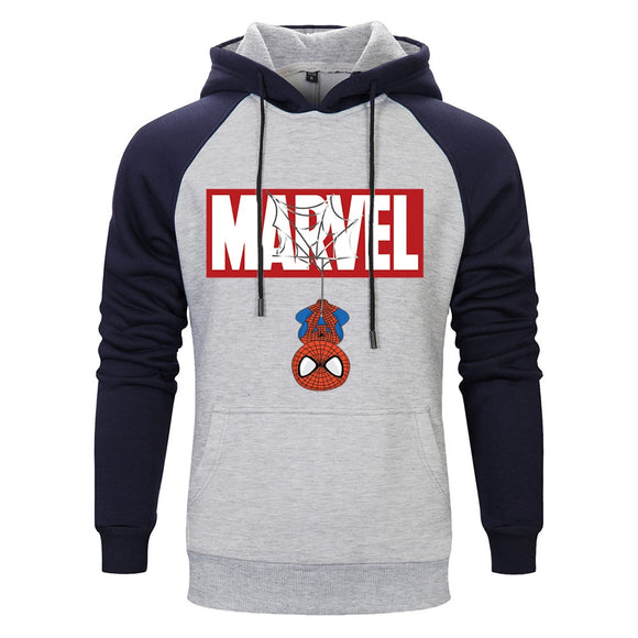 MARVEL Spiderman Brand Sweatshirts Men High Quality Letter printing fashion Hooded Pullovers mens hoodies trend Clothes 2019  MartLion