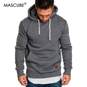 MASCUBE 2019 New Autumn Winter Fashion Color Hoody Male Large Size Warm Fleece Coat Men Brand Sweaters Hooded Sweat Shirts  MartLion