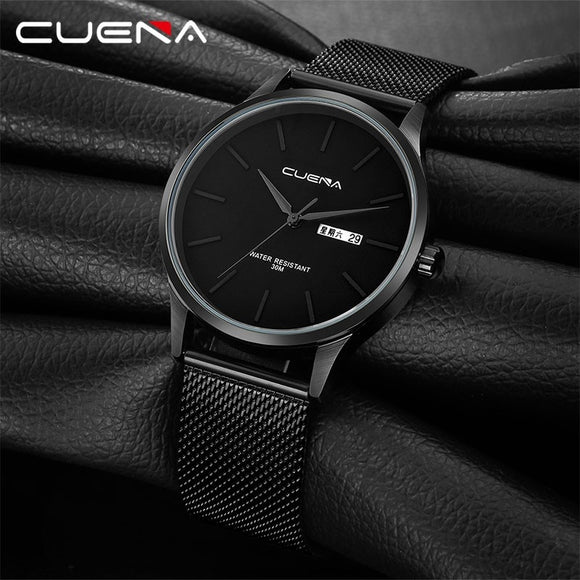MEN reloj hombre 2019 Top Brand Luxury Men Watches Waterproof Ultra Thin Date Wrist Watch Male Mesh Strap Casual Quartz Clock  MartLion