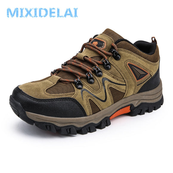 MIXIDELAI 2020 New Brand spring Fashion Outdoors sneakers Waterproof Men's shoes Mens Combat Desert Casual Shoes Plus Size 36-47