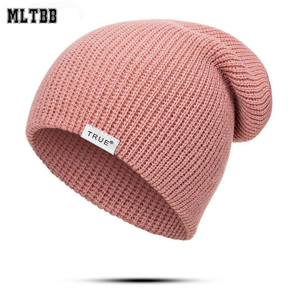 MLTBB Autumn Winter Knitted Beanie Hat for Boys Girls Fashion Casual Women Beanies Hats Solid Color Letter Winter Hat Men Kids
