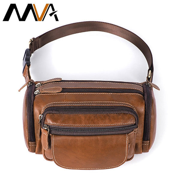 MVA Men's Belt Bags Men Waist Bags Purse Men's Belt Leather Waist Bag For Men Belt Bag Men Small Man Belt Pouch Waist Pack  MartLion.com