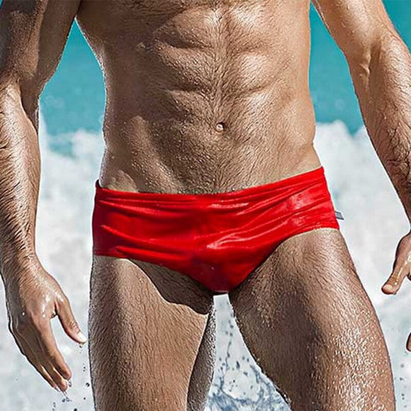 Man Swimming Sexy Swim Trunks Fashion Hot Spring Swimming Suit Beach Surfing Swimming Trunks Transparent Gay Underwear