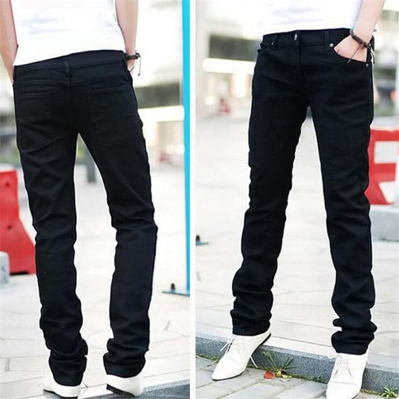 Man jeans new 2018 spring autumn Leisure Slim Wild Fashion men black jeans Feet Straight cowboy trousers Free Shipping - Mart Lion  Best shopping website