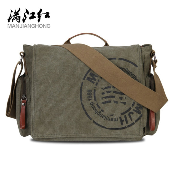 Manjianghong Leisure Canvas Men's Briefcase Bags Quality Guaranteed Man's Shoulder Bag Fashion Business Functional Messenger Bag - Mart Lion  Best shopping website