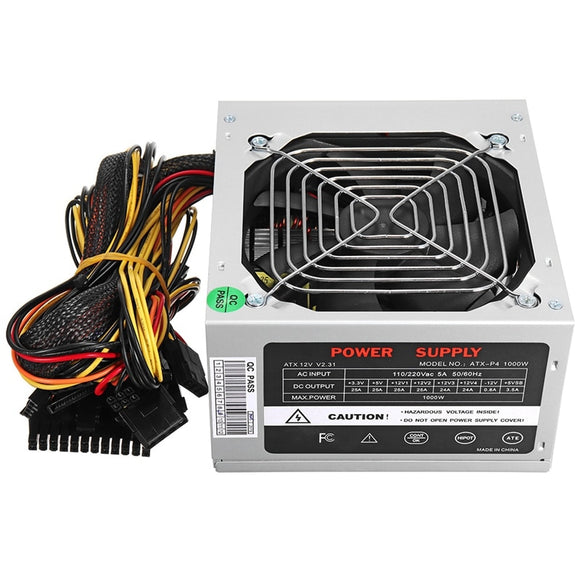 Max 1000W Atx Power Supply Quiet Fan For Intel Amd Pc Psu Pc Computer Miner Us Plug - Mart Lion  Best shopping website