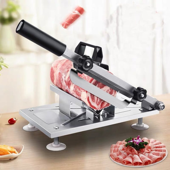 Meat slicer Manual Sliced cutting Machine Automatic delivery Frozen Beef Mutton Roll Cutter for Kitchen commercial