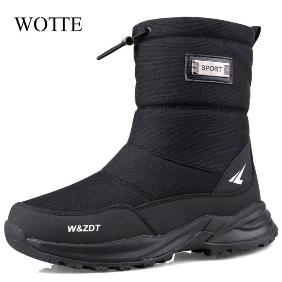 Men Boots 2020 Winter Shoes Men Snow Boots Waterproof Non-slip Thick Fur Winter Boot For -40 Degrees zip Platform Boots Ssize 40  MartLion