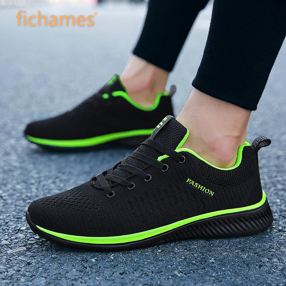 Men Casual Shoes Sneakers Summer Flying Fabric Lac-up Lightweight Comfortable Breathable Walking Plus Size 2019 New Mesh Men