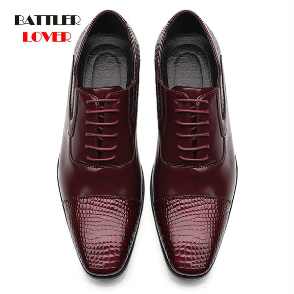 Men Formal Shoes 2020 Autumn & Winter Brand Wedding Dress Shoes Men New Footwear Black Fashion Design Leather Men's Shoes 38-48