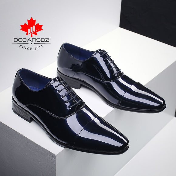 Men Formal Shoes 2021 Fashion Patent Leather Dress Shoes Men Spring & Autumn Brand Business Office Wedding Footwear Men Shoes