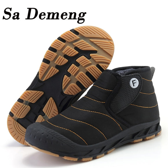 Men Lightweight Winter Shoes for Men Snow Boots Waterproof Winter Footwear Plus Size 47 Unisex Kids Ankle Winter Boots - Mart Lion