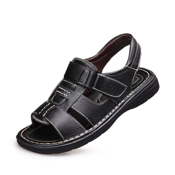 Men Sandals Slippers Genuine Leather Cowhide Male Summer Shoes Outdoor Casual  Sandals  Beach Shoes  MartLion