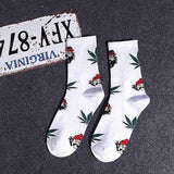 Men Socks Casual Personality Hip Hop Street Skate Boat Socks Men's fashion Funny Popular Breathable Tube Cotton Socks Male WD002  MartLion