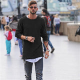Men Sweater Autumn Winter Knitted Solid Simply Style Pullover Casual Loose O Neck Sweater Jumper Male Black Outerwear Brand 2018  MartLion