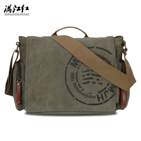 Men's Fashion Canvas Shoulder Bags Business Travel Crossbody Bags Men Messenger Bags Briefcase Men Handbag Tote  MartLion.com